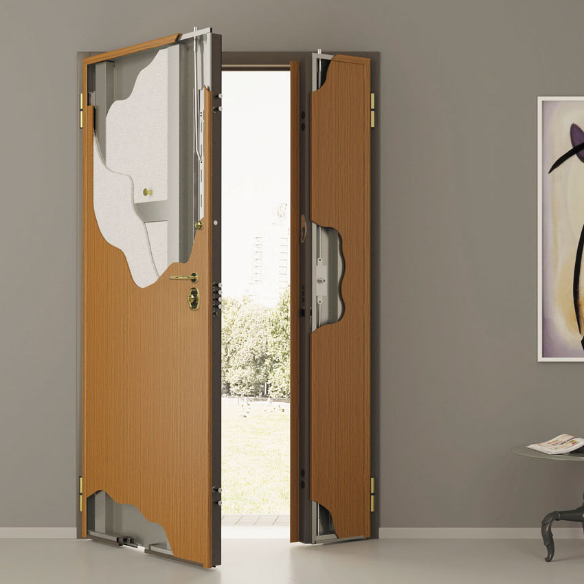 ... System to avoid the opening of the door with slim cards. & Reinforced doors - Lembo Infissi pezcame.com